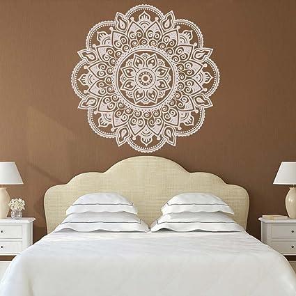 Amazon Com Battoo Mandala Wall Decals Bedroom Yoga Sticker Marrocan