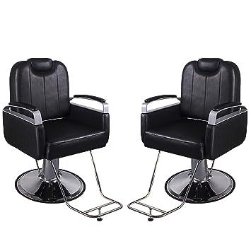 Amazon.com: Walcut - Silla reclinable hidráulica negra ...