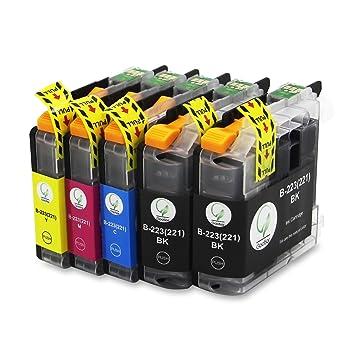 LC223XL Compatible para Cartuchos de Tinta Brother LC223, Pack de 5 Trabajar con Brother MFC-J5320DW DCP-J4120DW MFC-J480DW MFC-J5720DW MFC-J5625DW ...