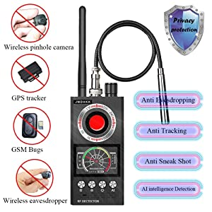 Anti Spy RF Signal Detector Bug Detector Camera Finder Scanner for GPS Tracker Wireless Eavesdropping Device Hidden Camera at Home in Office Business or Negotiation