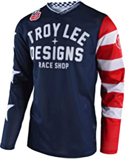 Troy Lee Designs Bike Sprint Jersey Metric Navy//Red Youth All Sizes