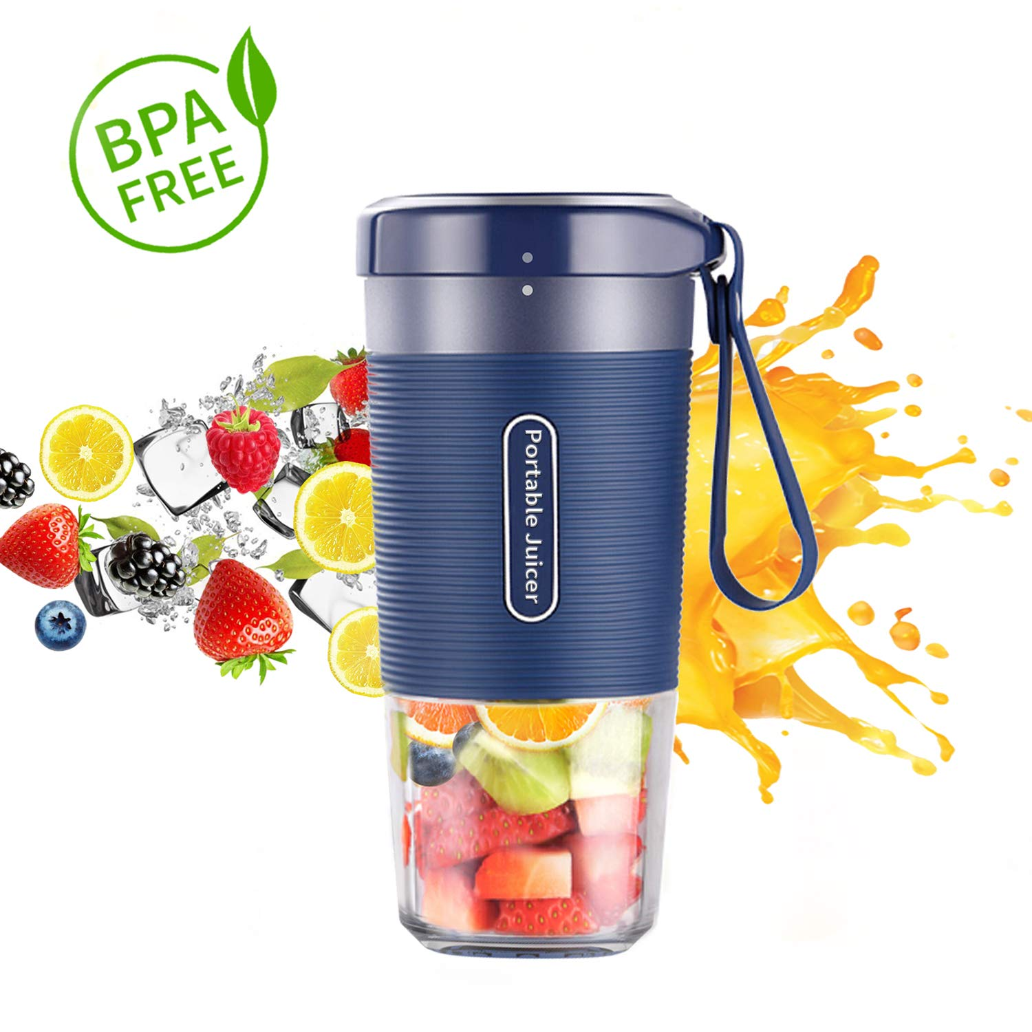 Portable Blender, Cordless Personal Blender Juicer, Mini Mixer, Waterproof Smoothie Blender With USB Rechargeable, BPA Free Tritan 300ml, Home, Office, Sports, Travel, Outdoors