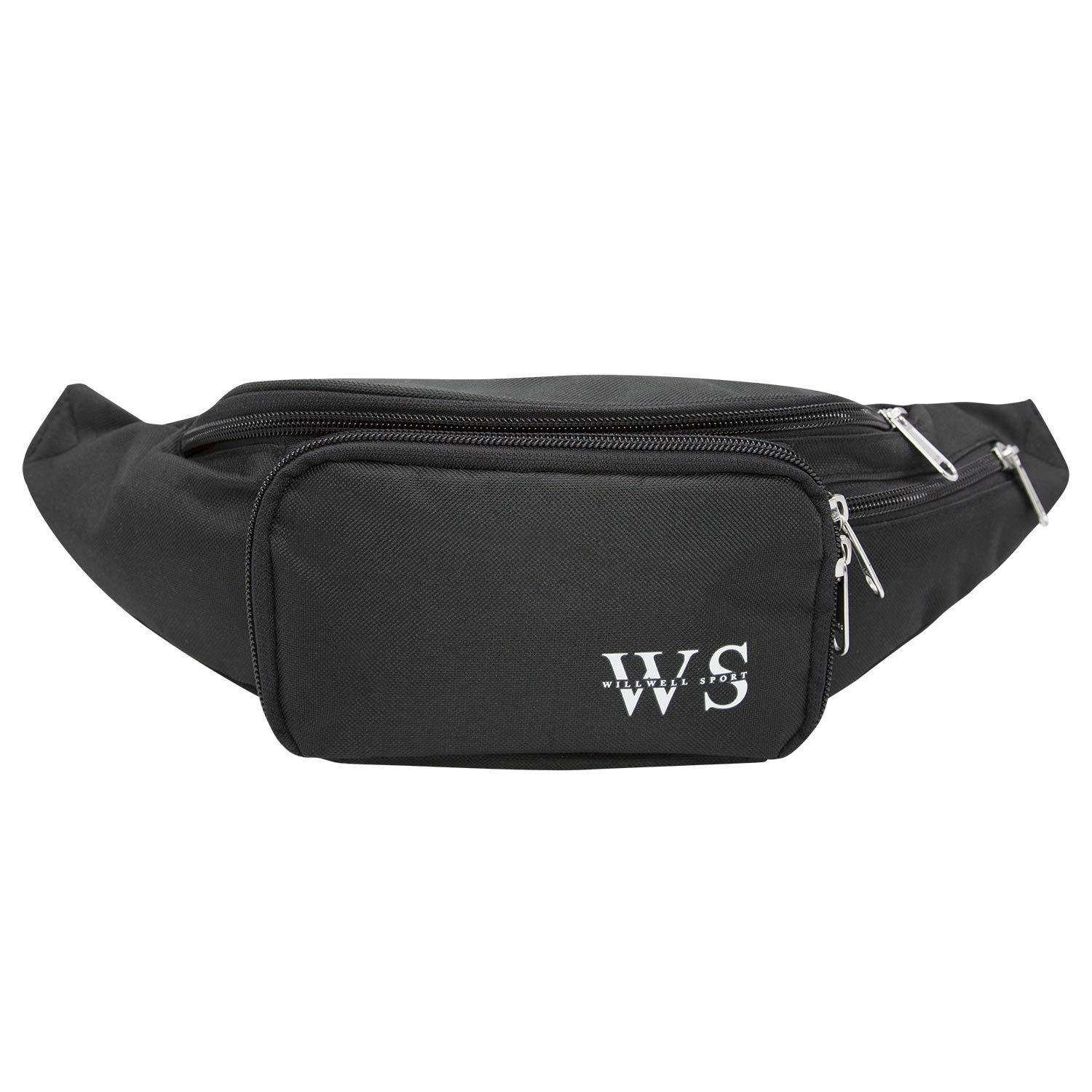 WILLWELL SPORT Bumbag Bum Waist bag 4 zippered pockets for travelling Security Waist Pouch Lightweight RFID Waterproof Material Protect Your Conceal Valuable