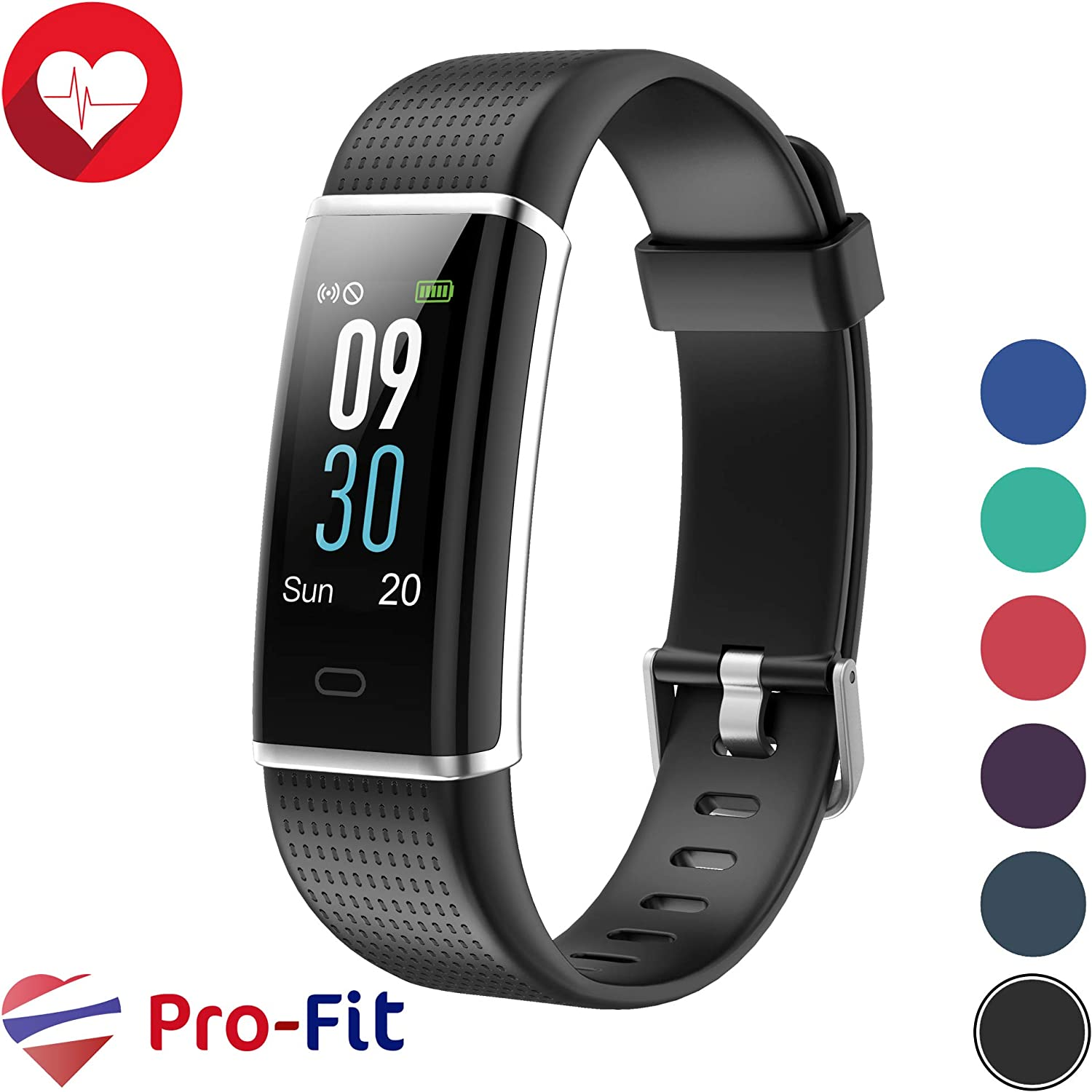 YAMAY Kids Fitness Tracker, Slim Kids Activity Tracker Fitness Watch Waterproof Pedometer Watch Step Counter Sleep Tracker Vibration Alarm Clocks for Boys Girls Women Men No Heart Rate Function