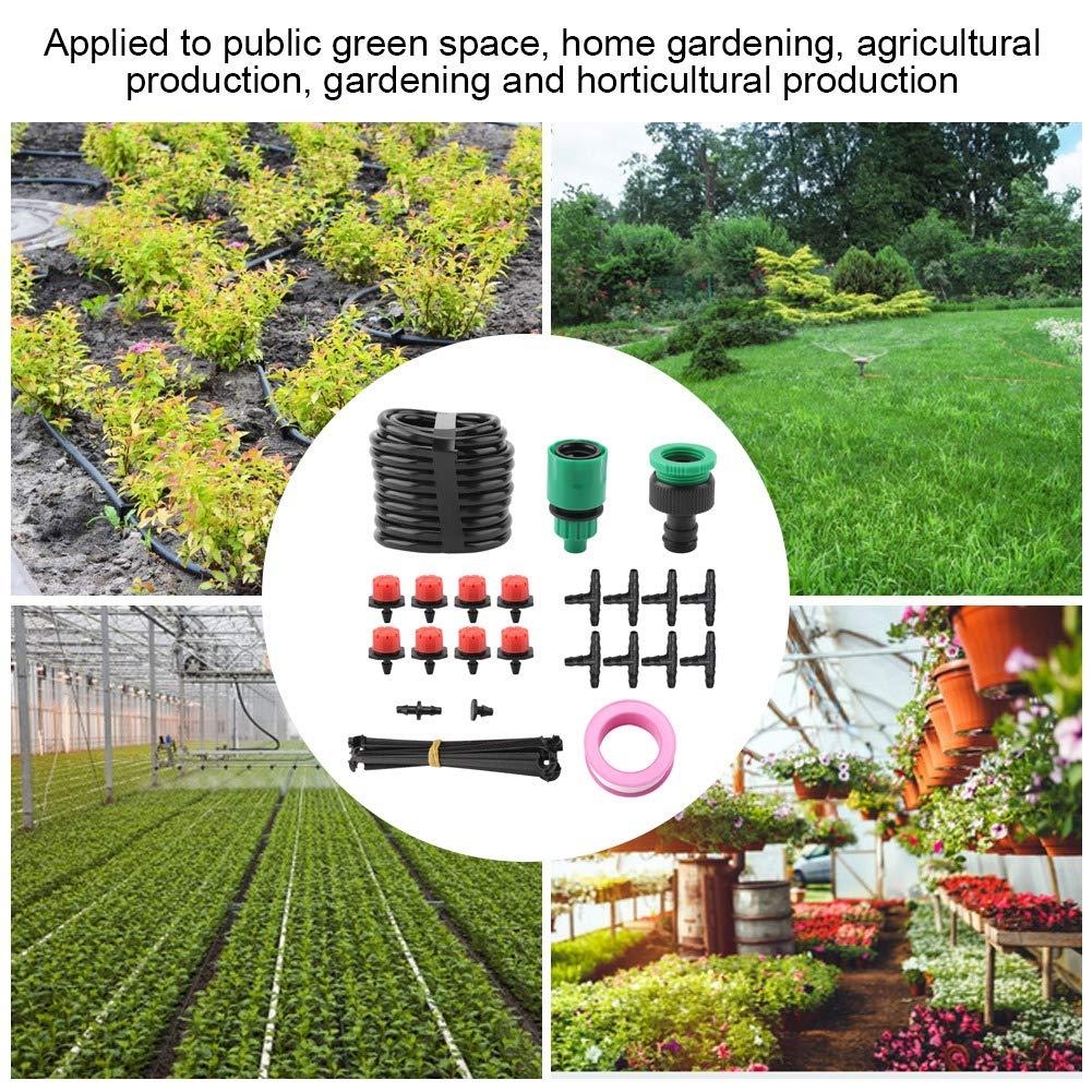 5m Bew/ässerungsset Verstellbarer Gartenschlauch Micro-Tropfbew/ässerungssystem Pflanzenwerkzeug Sprinkler-Bew/ässerungsset f/ür die Bew/ässerung der Treibhausbefeuchtung EU-Standard