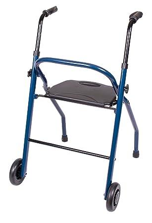 Amazon.com: Carex Salud Marcas 2 ruedas andador con asiento ...