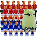 Billiard Evolution 26 Red/Blue Shirts/Socks Foosball Men + Screws/Nuts Bag