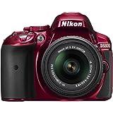 Nikon D5300 24.2 MP CMOS Digital SLR Camera with 18-55mm f/3.5-5.6G ED VR II Auto Focus-S DX NIKKOR Zoom Lens (Red) - (Certified Refurbished)