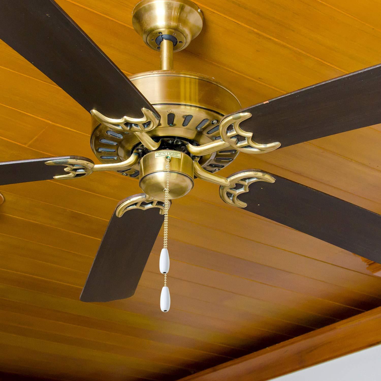 White Color 4 Pieces Ceiling Fan Chain Pulls Wooden Pull Chain Extension Pull Chain for Ceiling Light Lamp Fan Chain