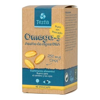 Testa Omega-3 Aceite de Algas DHA 250mg (45 cápsulas) (45 cápsulas