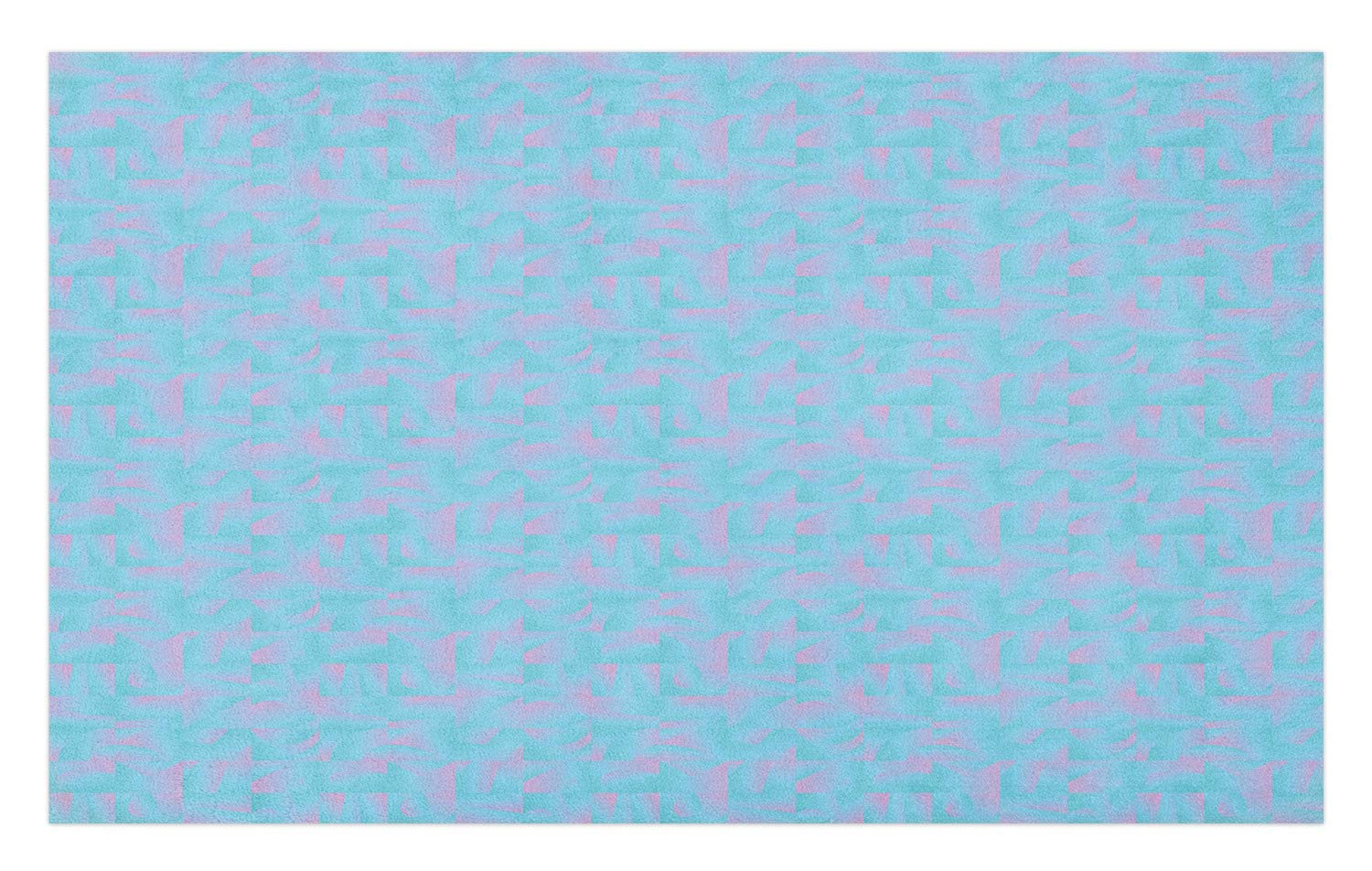 GugeABCmat Floor Rug Carpet,Quote On Watercolored Background with Splashed Ink Blended Look,Roommat 47'' W X 31'' L,Black Pale Yellow and Aqua