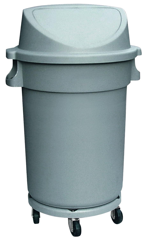 Contenedor - Cubo de basura 120 litros, incluye tapa de empuje. y ruedas 63 cm de diámetro y 102 cm de altura: Amazon.es: Hogar
