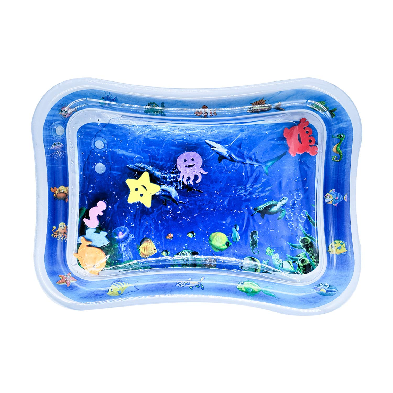 PHYLES Inflatable Water Play Mat , baby play mat,Tummy Time Toys for Stimulation Growth, BPA Free, Nontoxic, Leakproof, kids'Activity Center