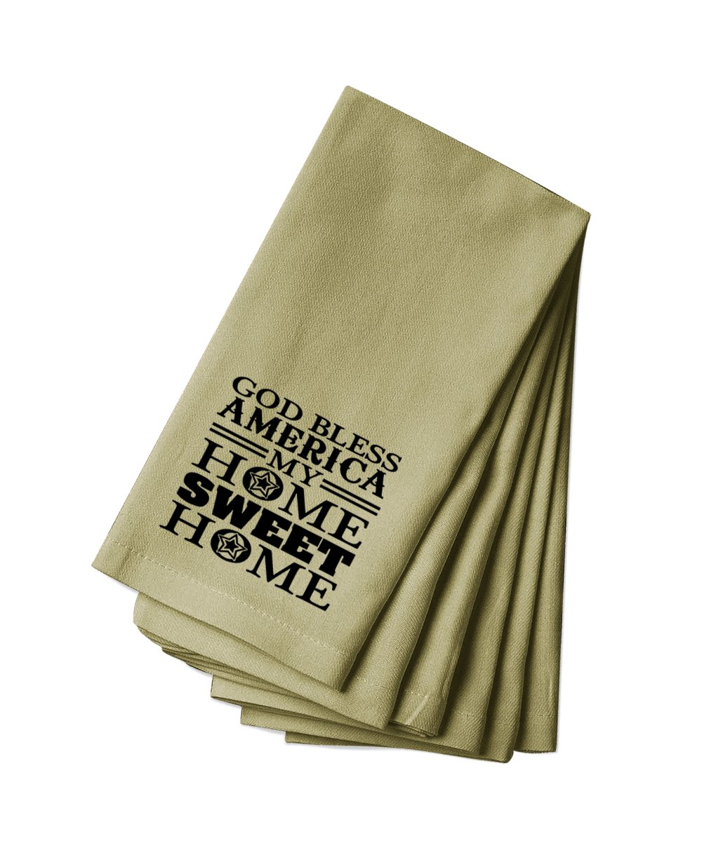 Style in Print Canvas Napkin Set Of 4 Good Bless America My Home Sweet Home By