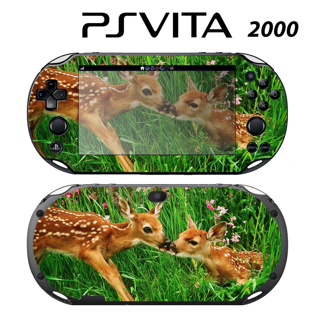 Decorative Video Game Skin Decal Cover Sticker for Sony PlayStation PS Vita Slim (PCH-2000) - Sweet Deer Bambie Kisses