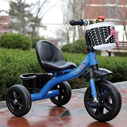Fenfen Triciclo para niños Bicicleta para bebés Carruaje para bebés Bicicleta de acero con alto contenido