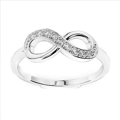 extrêmement unique extrêmement unique mode designer Anello con simbolo dell'infinito con diamanti autentici da 0 ...