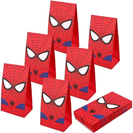 Amazon.com: RecooTic Spiderman bolsas de fiesta Goodie ...