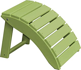 product image for Furniture Barn USA Poly Folding Round Ottoman Footrest - Tropical Lime