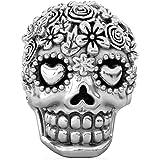 BELLA FASCINI Bouquet Dia de Los Muertos Skull Bead Fits All Compatible European Charm Bracelets