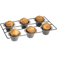 Fox Run Nonstick 6 Cup Linking Popover Muffin Pan Baking Bakeware Breakfast