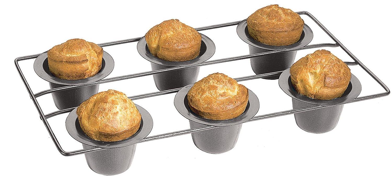 Fox Run Nonstick 6 Cup Linking Popover Muffin Pan Baking Bakeware Breakfast