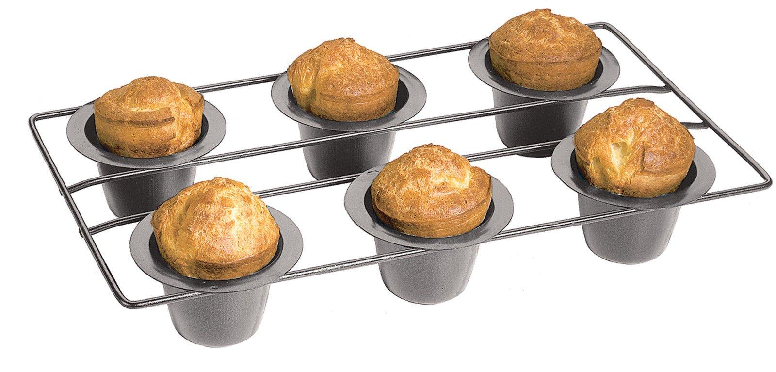Fox Run Nonstick 6 Cup Linking Popover Muffin Pan Baking Bakeware Breakfast by Fox Run