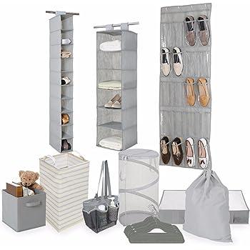 Tidy Living Bundle   Organization Storage Solution Set   Shower Caddy,  Hanging Organizers, Hangers