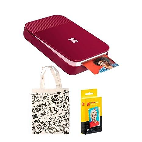 KODAK Smile - Bolsa para Impresora Digital instantánea, Color Rojo ...