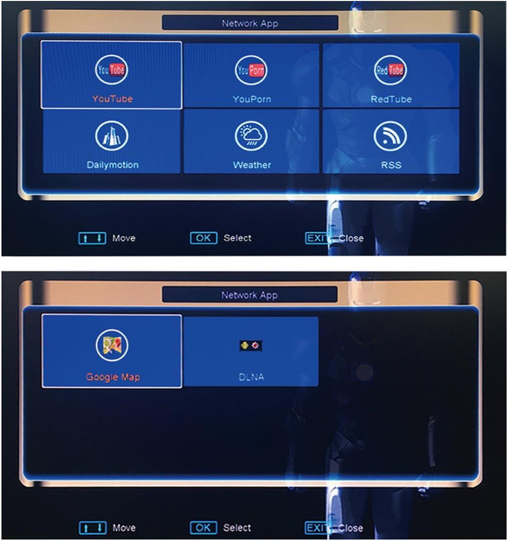 OVERBOX Freesat Receptor Satélite Digital Decodificador V8 M9S Pro DVB-S2 Decoder, 1080P Full HD WiFi Freeview FTA Canals