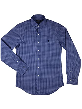 4d731cbb Image Unavailable. Image not available for. Color: Polo Ralph Lauren Men Slim  Fit Stretch Poplin Sport Shirt, Blue, Large