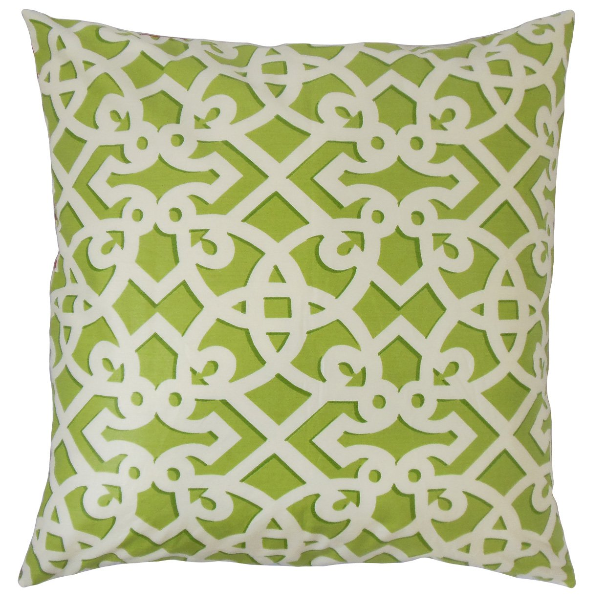 The Pillow Collection P18-WAV-750484-FRANCISFRET-SPRING-C100 Valerian Geometric Pillow Spring