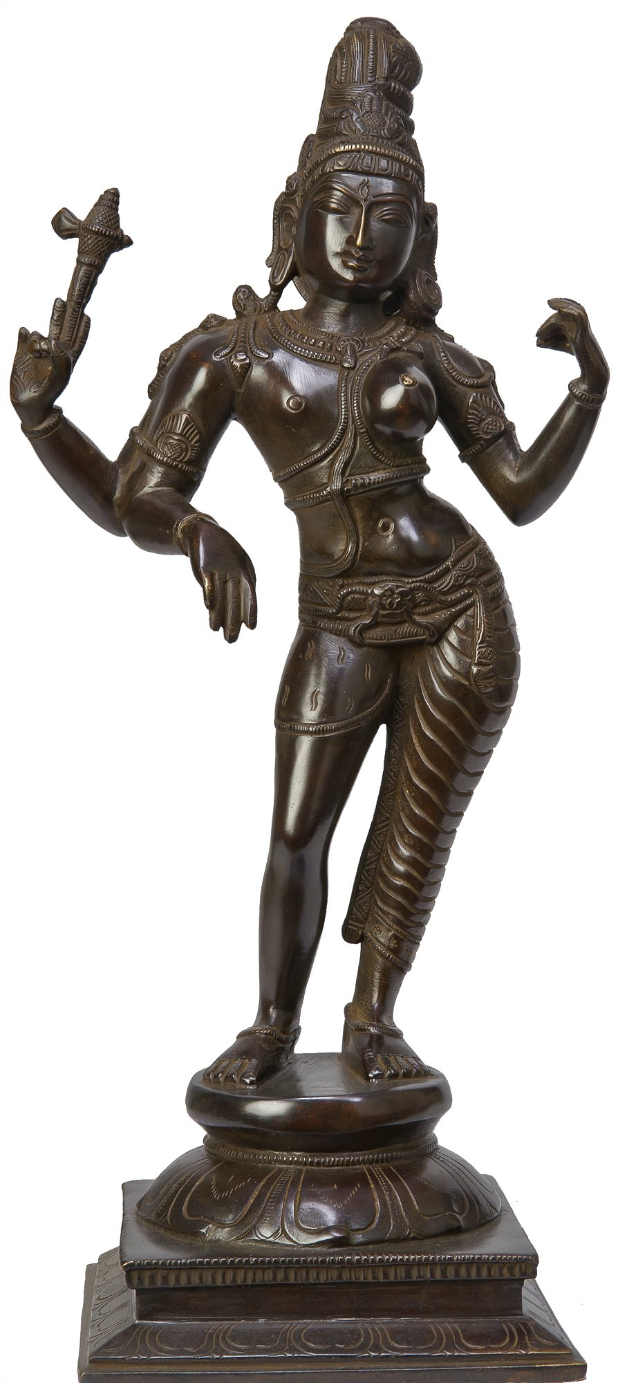 The Most Sacred and Auspicious of All Divine Forms - Brass Sculpture