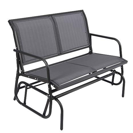 Amazon.com: Modern Patio Glider Chair Steel Outdoor Swing ...