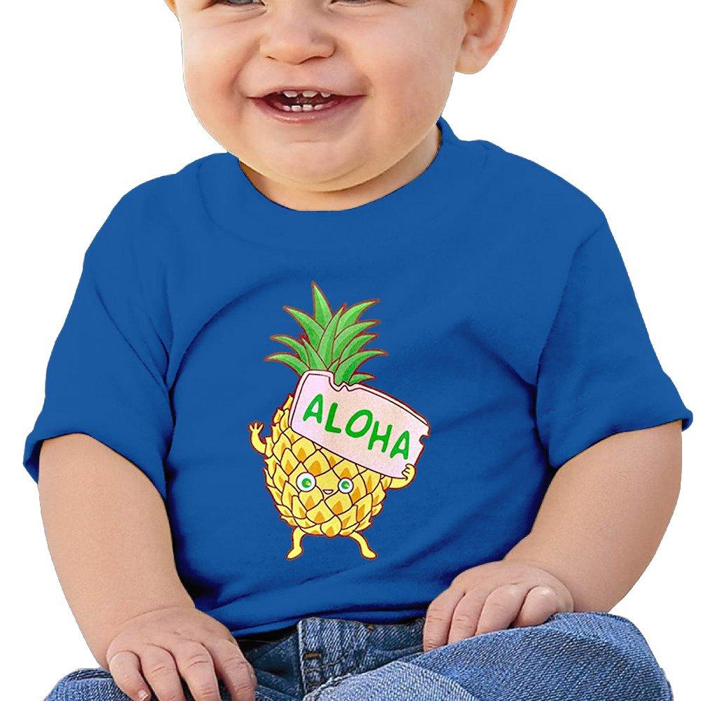 Boy&Girl Short Sleeve Pineapple Aloha T-Shirt NUQUIP GOIFU