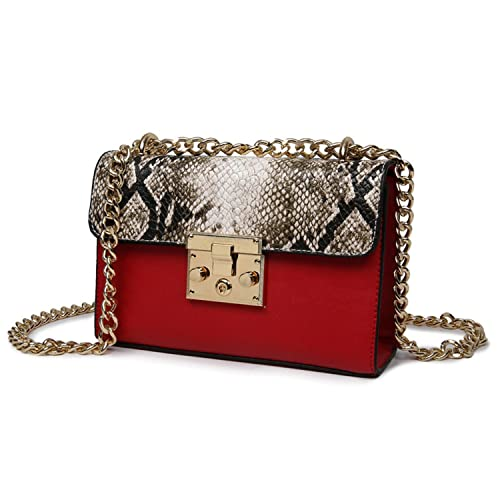 bfa5e947fee Amazon.com: Toping Fine handbags Women Messenger Bag Chain Crossbody ...