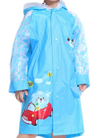bb2c75fe0 ES-UK Kids Boys & Girls Raincoat Yellow - Blue - Pink Age 3-9 Years