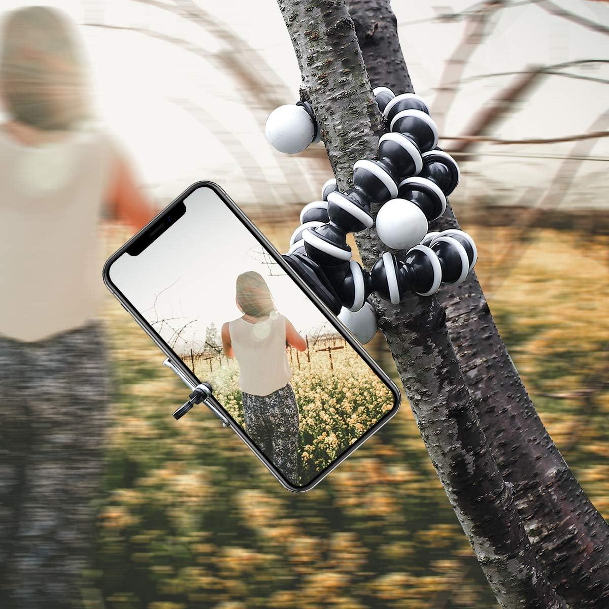 Portable and Adjustable Lightweight Phone Tripod Vech Phone Flexible Tripod Compact Tripod Stand 360/° and Universal Phone Tripod with Android Phone