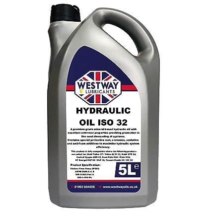 Aceite hidráulico ISO 32 5 litros 5L: Amazon.es: Coche y moto