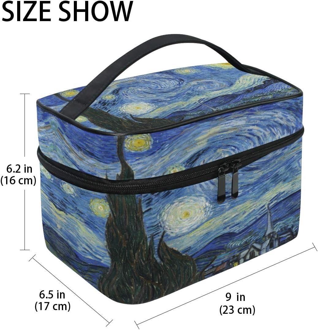 CPYang Bolsa de maquillaje de viaje Van Gogh de noche estrellada bolsa de cosm/éticos organizador de neceser bolsa de maquillaje para mujeres y ni/ñas