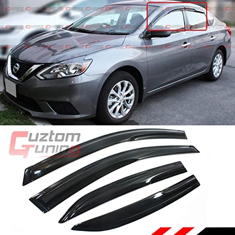 Cuztom Tuning Jdm Smoked Window Visor Vent Shade For 2013 2019 Nissan Sentra Sedan