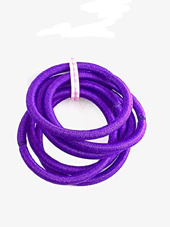 Purple Jersey Endless Snag Free Hair Bobbles Hair Elastics