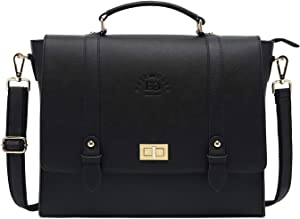 17Inch Laptop Briefcase for Women,Classic Black Work Bag Laptop Messenger Bag Large Computer Bags for Work Business Travel,black-17Inch