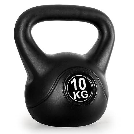 Klarfit Pesa Rusa Kettlebell (Revestimiento de plástico), Color Negro Negro Schwarz - 16 kg Talla:16 kg: Amazon.es: Deportes y aire libre