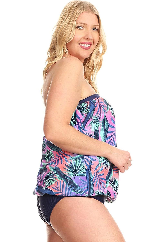 8d1f50fead4 Amazon.com: Dippin' Daisy's Blouson Tankini Swimwear for Women | Neon  Jungle Plus Size 22w | with Dark Self Tanning Lotion 8 oz + Aloe Vera Gel 8  oz - Made ...