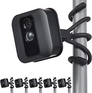 Uogw 5 Pack Flexible Tripod for Blink XT,Blink XT2,Blink Mini,All-New Blink Outdoor,Wall Mount Bracket,Attach Your Blink Home Security Camera Wherever You Like Without Any Tools-Black