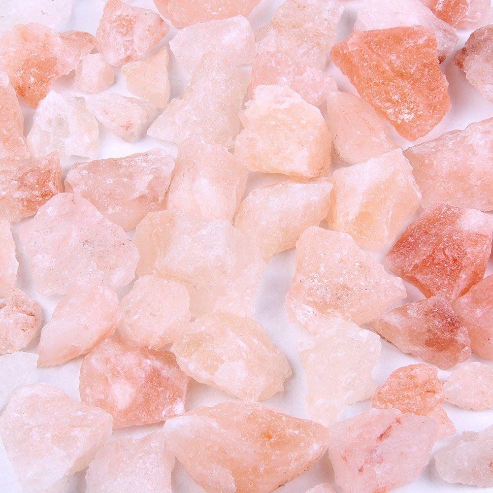 Skullis Natural Pink Himalayan Salt Rock Chunks Stone - 5 Pounds Rocks Crystals for Basket and Bowl Salt Lamp, 1 to 2 Inches Mixed Size