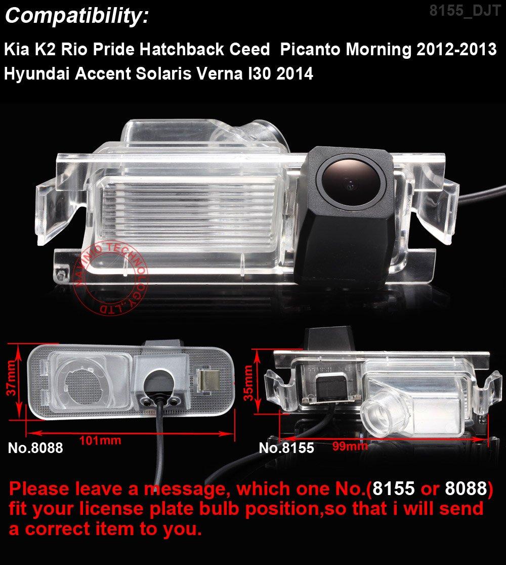 Navinio Auto R/ückfahrkamera Farbkamera Einparkkamera Nachtsicht f/ür R/ückfahrsystem Einparkhilfe f/ür Hyundai i10 i20 i30 Solaris Tiburon