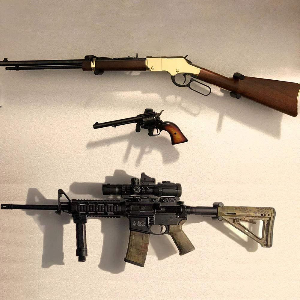 Titular de Rifle Estante del Bate de b/éisbol Rifle Hanger 4 Pack bastidores de Pistola Vertical Pantalla de Airsoft Gancho Soporte de Pared para Pistola