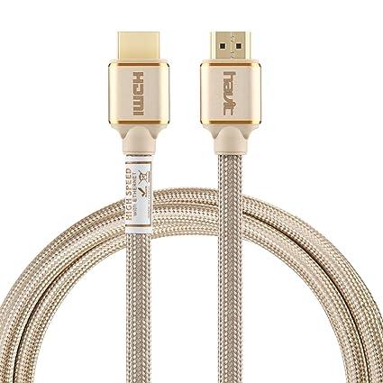 Havit 2 m HDMI Cable HDMI 2.0, 18 Gbps de Alta Velocidad con Ethernet,